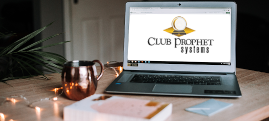 Image of a laptop with the Club Prophet Systems logo